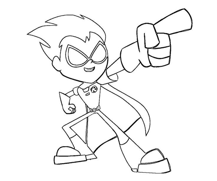 Teen titans go coloring pages robin | JOVENES TITANES | Pinterest ...