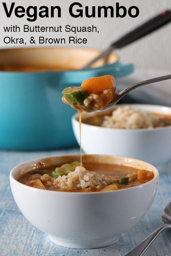 Vegan Gumbo With Butternut Squash Okra And Brown Rice