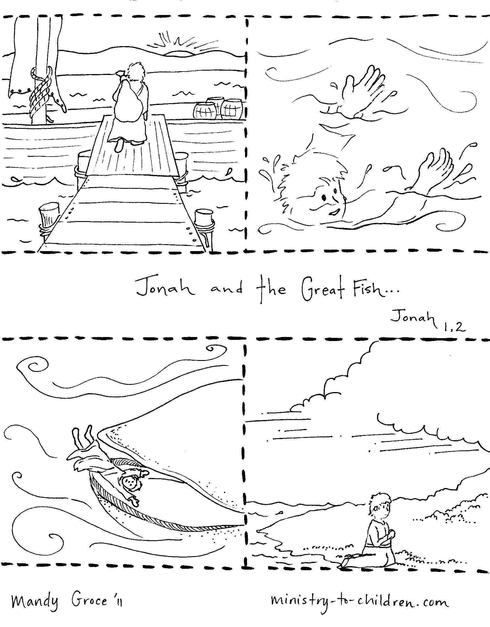 Jonah And The Fish Coloring Page Youngandtae Com Fish Coloring Page Jonah And The Whale Whale Coloring Pages