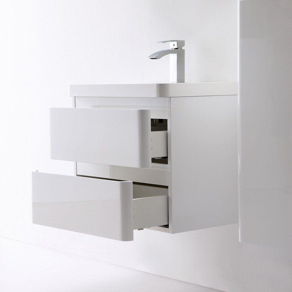Designer Vanity Units For Bathroom Prepossessing Lusso Stone Venetian Wall Mounted Designer Bathroom Vanity Unit Decorating Design