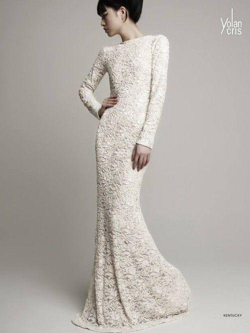 Vestido de novia 2014 en color nude con textura estilo crochet y ...