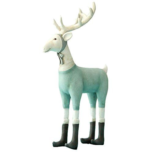 Resin Craft Deer Christmas Gift Dressing Home Decoration Animals Designer >>> For more information, visit image link.
