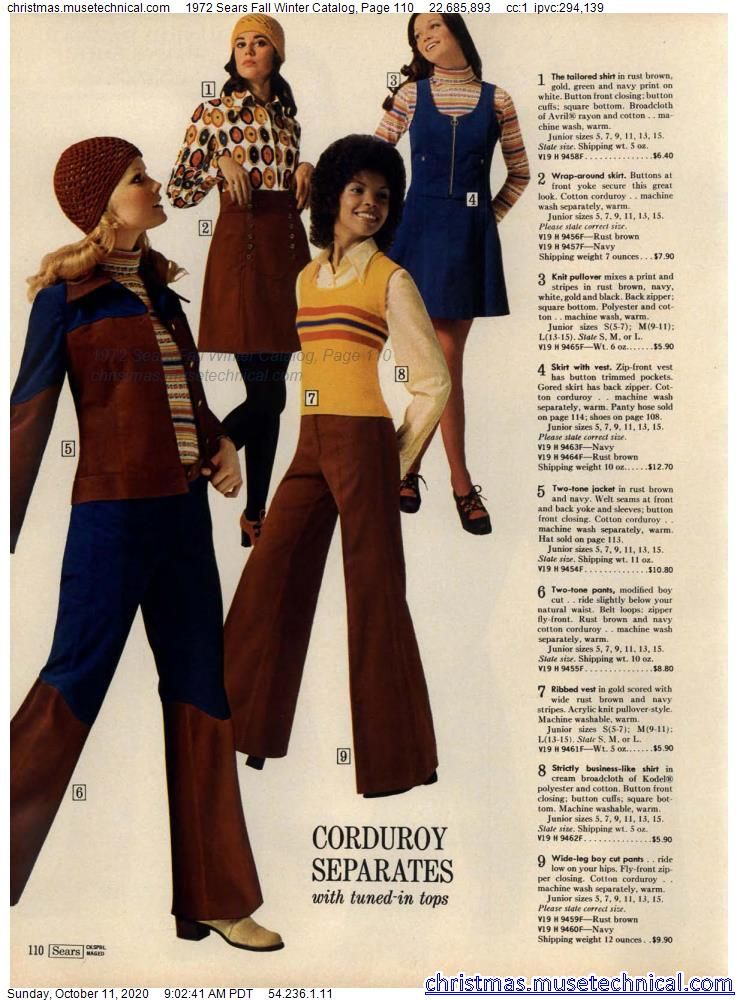 1972 Sears Fall Winter Catalog, Page 110 - Christm