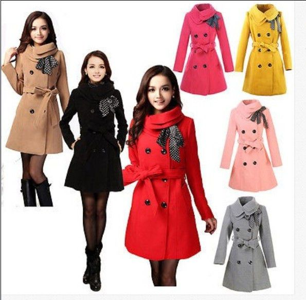 Womens Winter Warm Slim Trench Coat Long Wool Jacket Parka Cardigans Outwear Hot