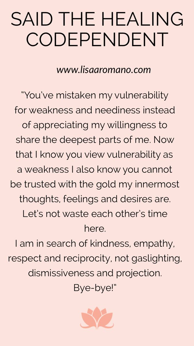 Said The Healing Codependent Healing Quotes Codependency Life Thoughts