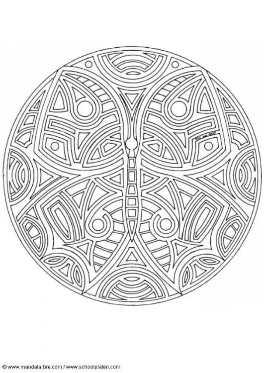 butterfly mandala | Mandala coloring pages, Coloring pages ...