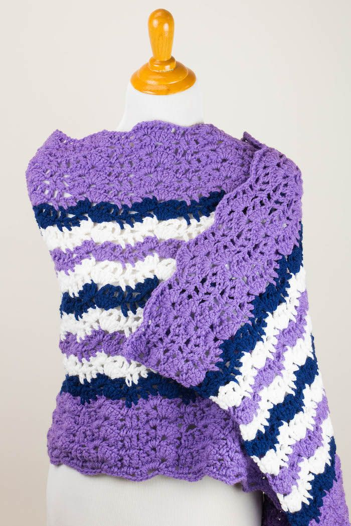Marciana Lace Prayer Shawl, free #crochet pattern | Prayer shawl ...