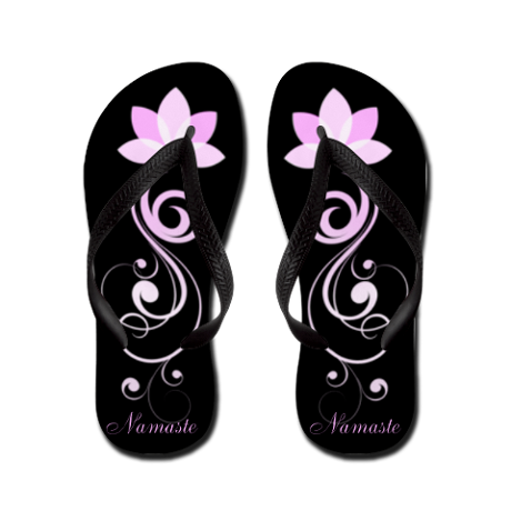 a3712037e5af45 Pink Lotus Flower Flip Flops ~ Personalize With Any Text  FlipFlops  Lotus   Flower