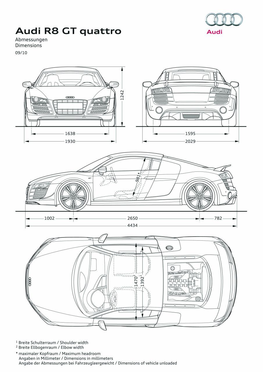 Art Print Car RENDER AUDI TT - POSTER A4 A3 A2 sizes