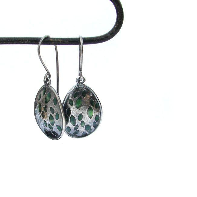 Leaf earrings #nature #jewel #inspiration #design #silver