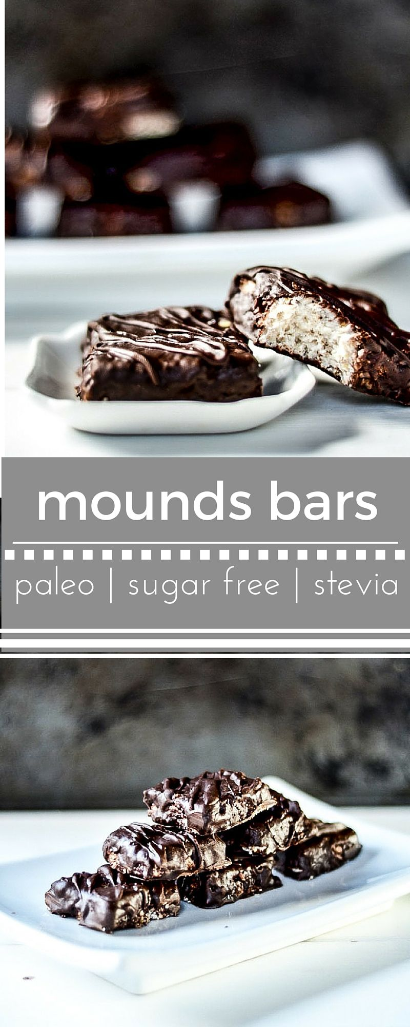 Paleo Mounds Bars Made With Creamy Coconut Filling And Covered In Chocolate Makanan Permen Cokelat Resep Makanan Penutup