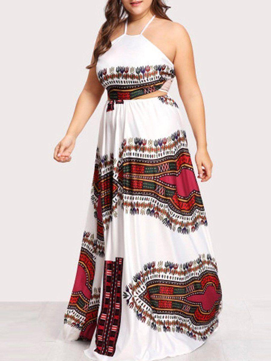 Spaghetti Strap Bohemian Plus Size Midi & Maxi Dresses in ...