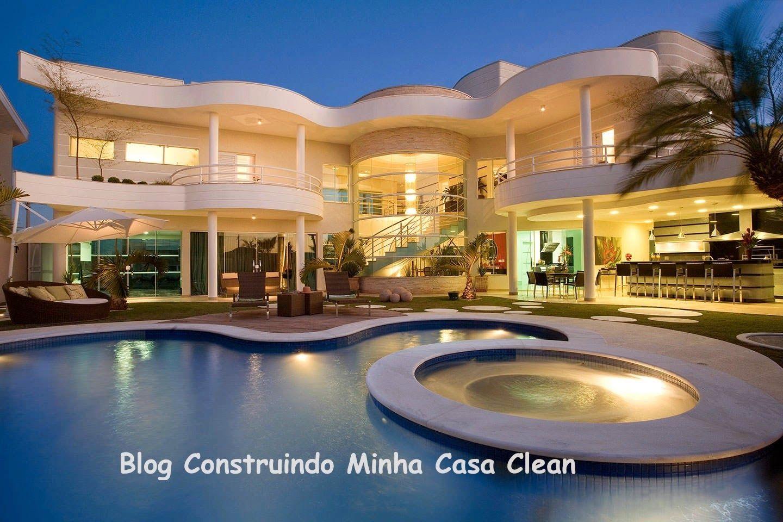 Construindo Minha Casa Clean: Top 10: Fachadas de Casas Modernas com Paisagismo e Muros!