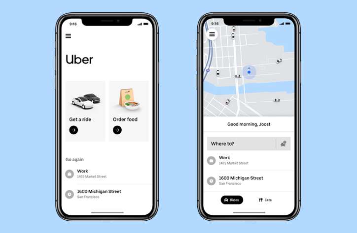 Uber overhauls app design, simplifying interface and