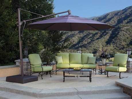 Treasure Garden Cantilever Aluminum 13 Foot Wide Crank Lift Tilt U0026 Lock  Umbrella | AKZ13