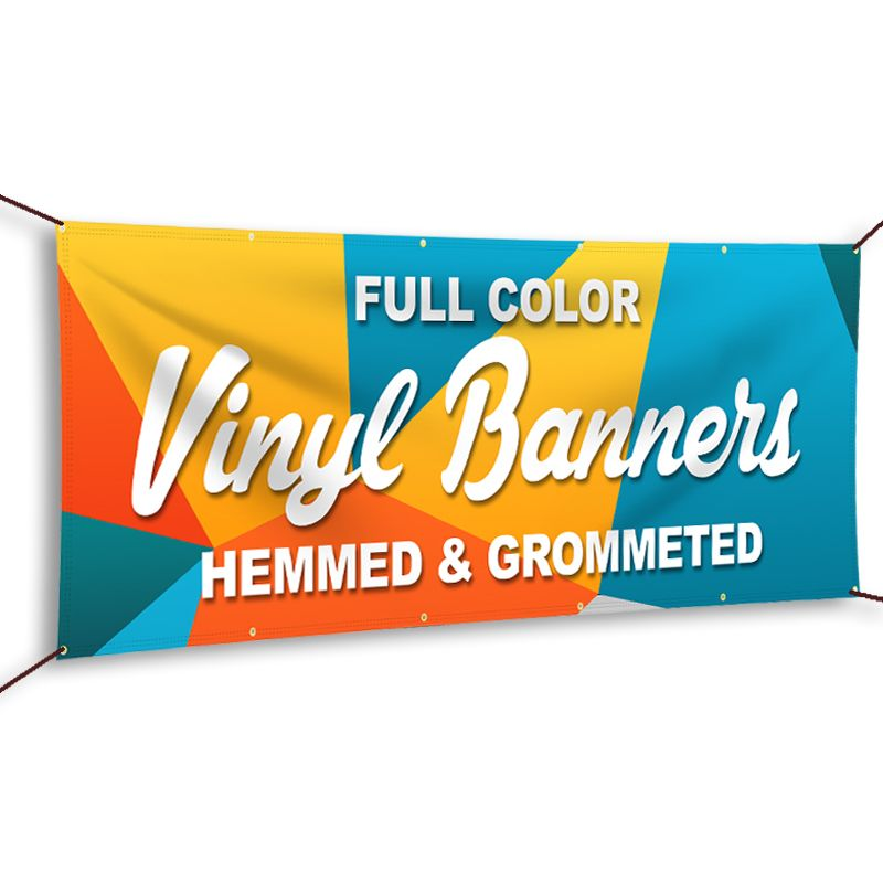Banners Sticker Style Size Printable In 2020 Vinyl Banner Printing Custom Vinyl Banners Vinyl Banners