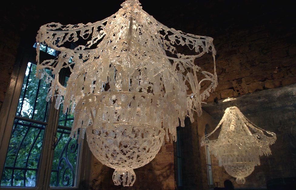 Glue gun chandelier like pinterest lorem ipsum glue gun chandelier mozeypictures Images