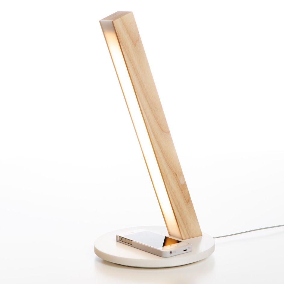 Lampe Led Ch Ne Avec Chargeur Induction H40cm Led40 Table  # Table Basse Blanc Avec Lampe Led