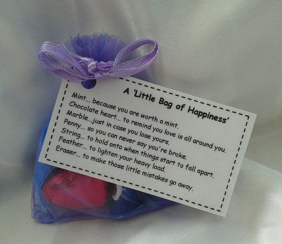 little bag of happiness novelty gift ideal for wedding favors