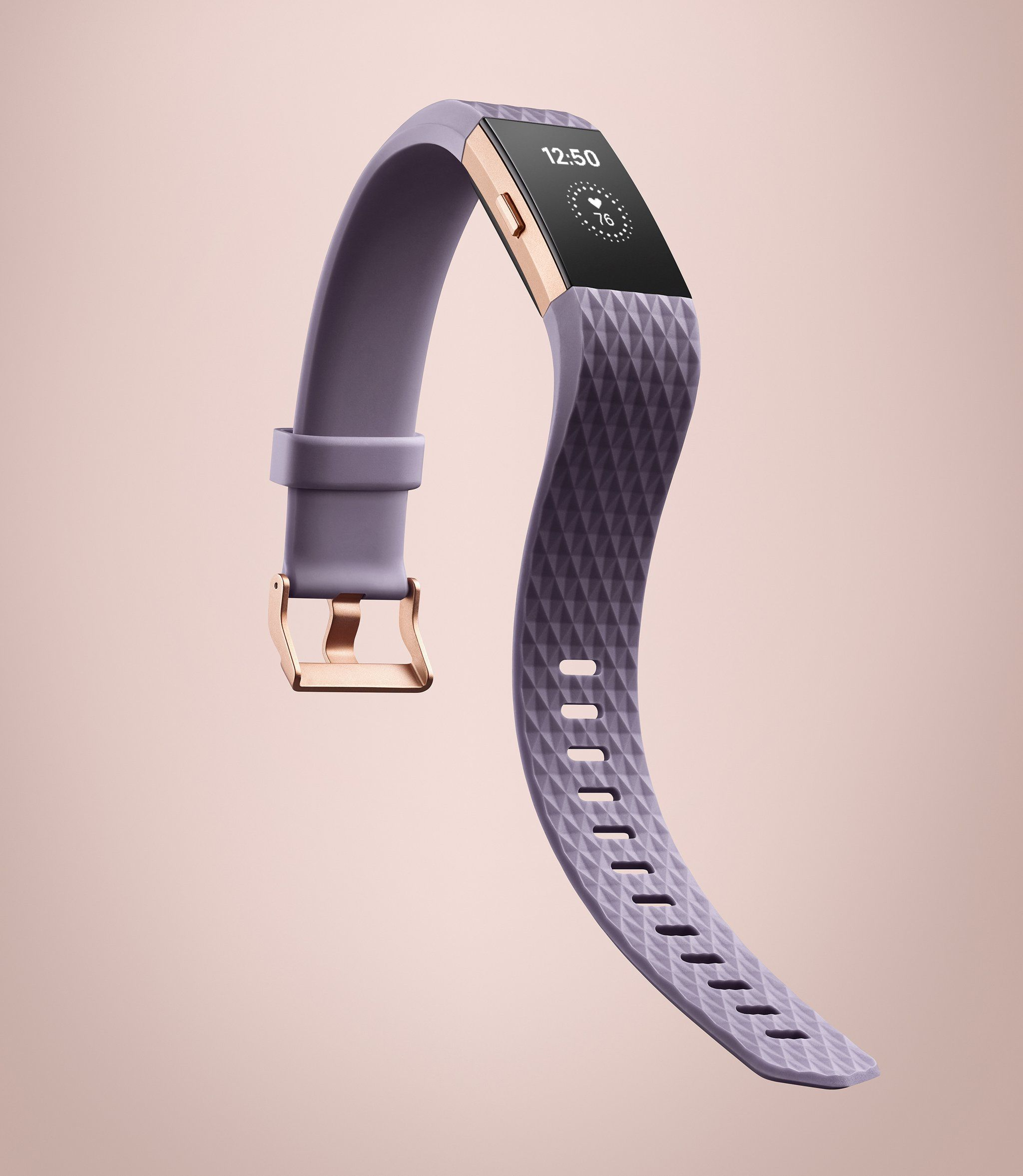 Fitbit Charge 2 In Lavender And Rose Gold Wearable Device Workout Accessories Fitbit Models