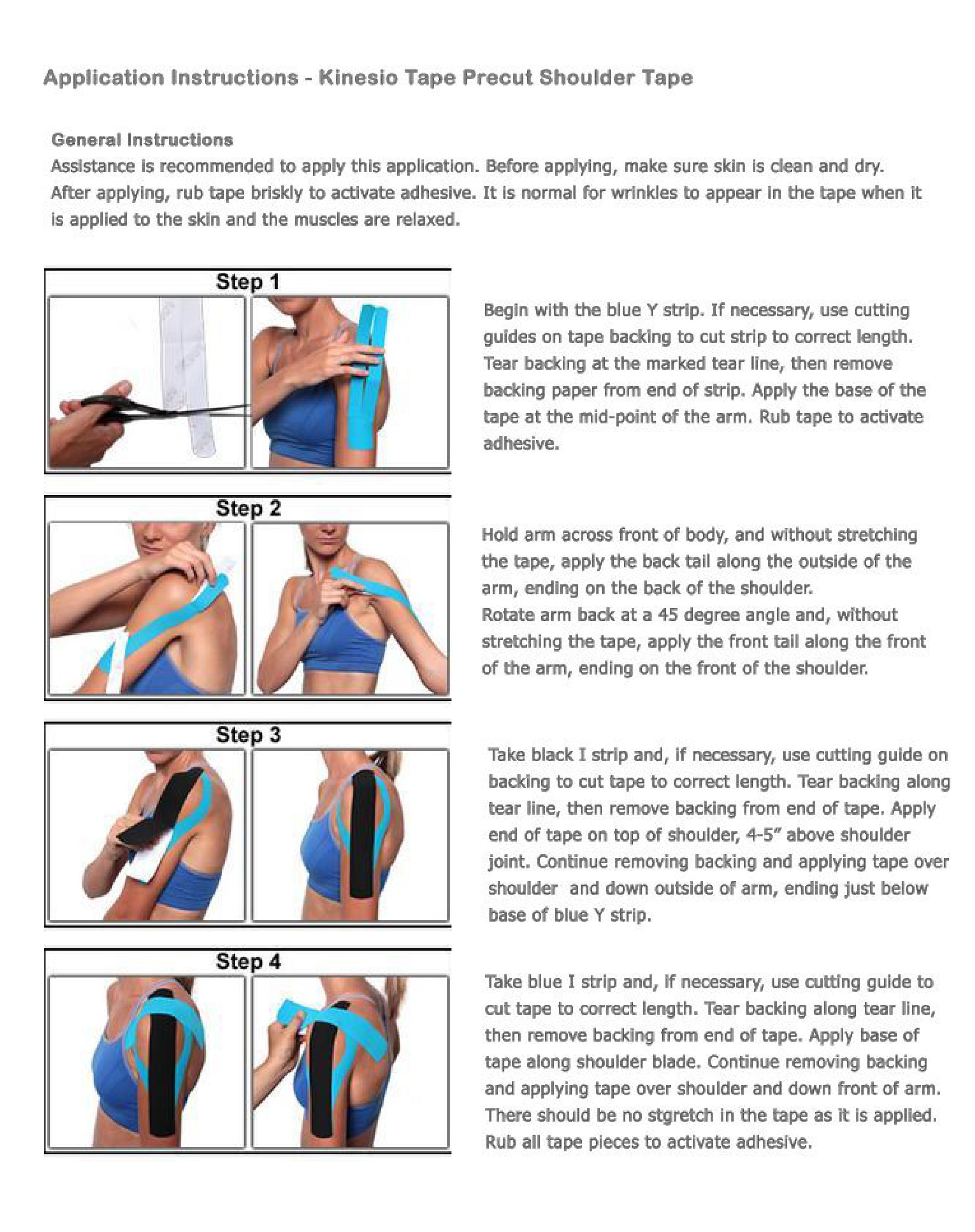 Simple Kinesiology Tape Instructions For Shoulder Kinesiology Tape