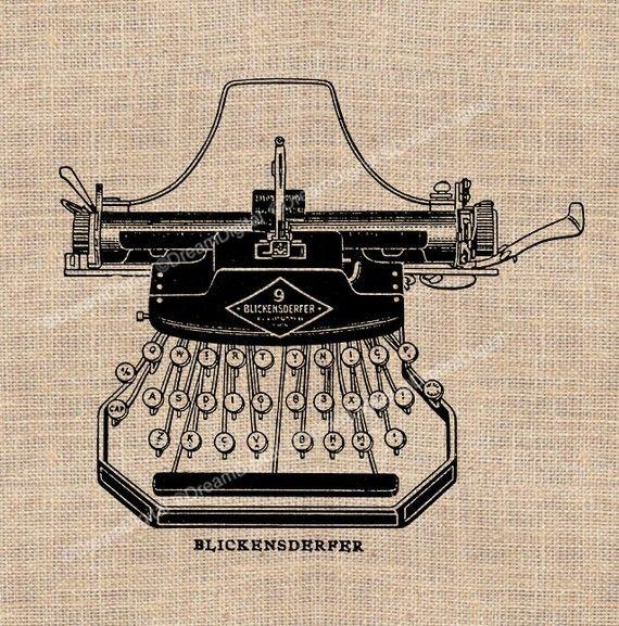 Vintage Typewriter Digital Download for by DreamDigitalDownload, $4.80