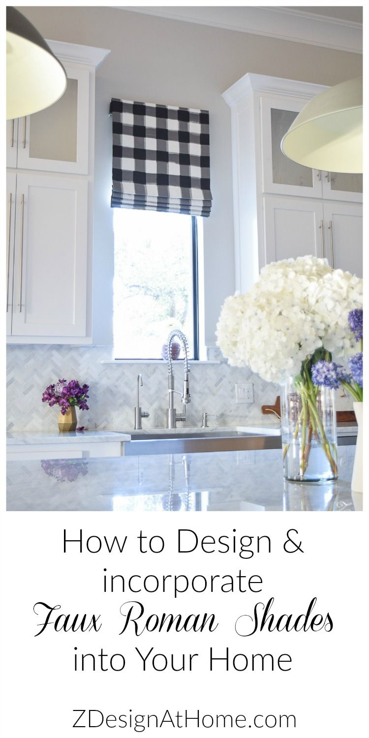 ZDesign At Home: How to Design a Faux Roman Shade