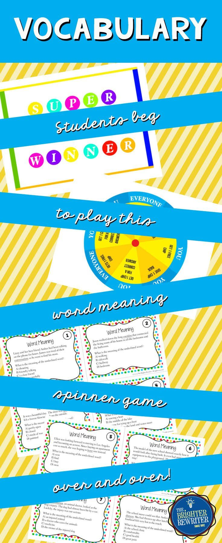 Word Meaning Task Cards and Game | Multiple meaning words, Context ...