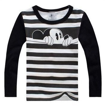 Autumn Winter Cotton Kids T-Shirt of Cartoon Mouse Mickey Long Sleeve