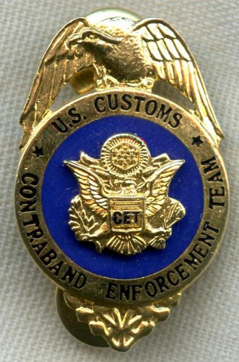 Rare 1980 S Us Customs Contraband Enforcement Team Cet Plain
