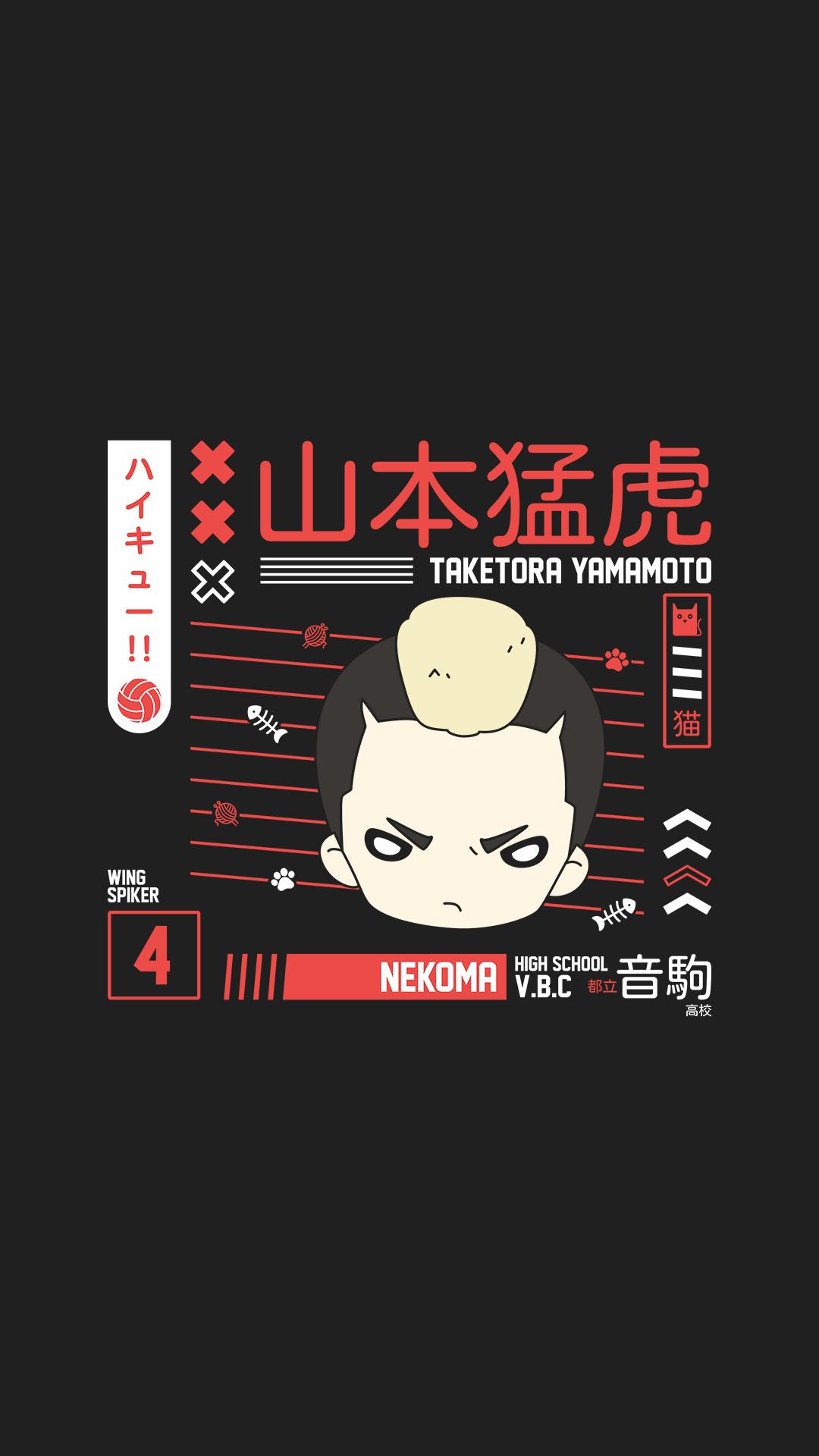 Taketora Yamamoto Wallpaper - Nekoma - Haikyuu