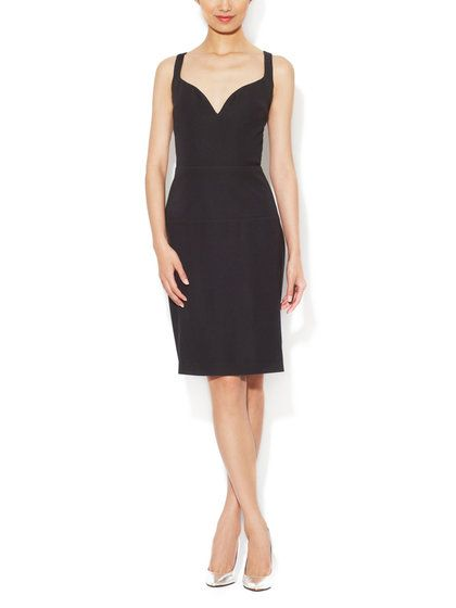Balenciaga Jersey Sweetheart Sheath Dress € 918,91 Gilt