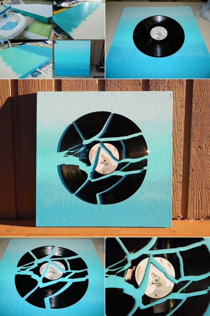 What To Do With Old Vinyl Records Vinyl Record Crafts Vinyl