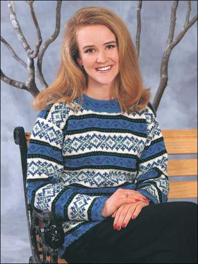 Long-Sleeved Sweater Knitting Patterns - Dover Fair Isle Sweater ...