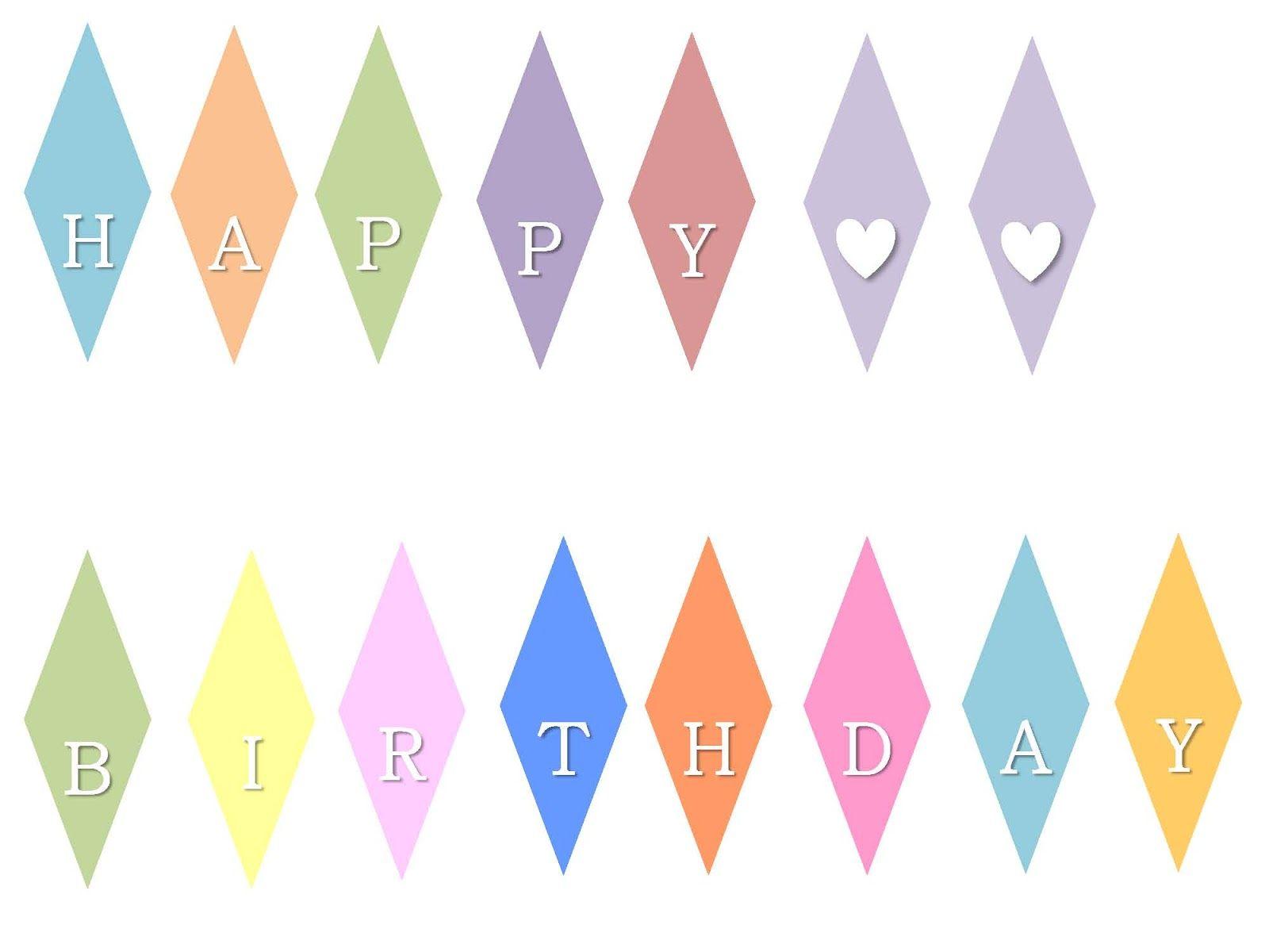Kuchengirlande happy birthday ausdrucken