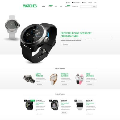 Stylish Watches Shopify Theme Stylish watches - heart rate chart template