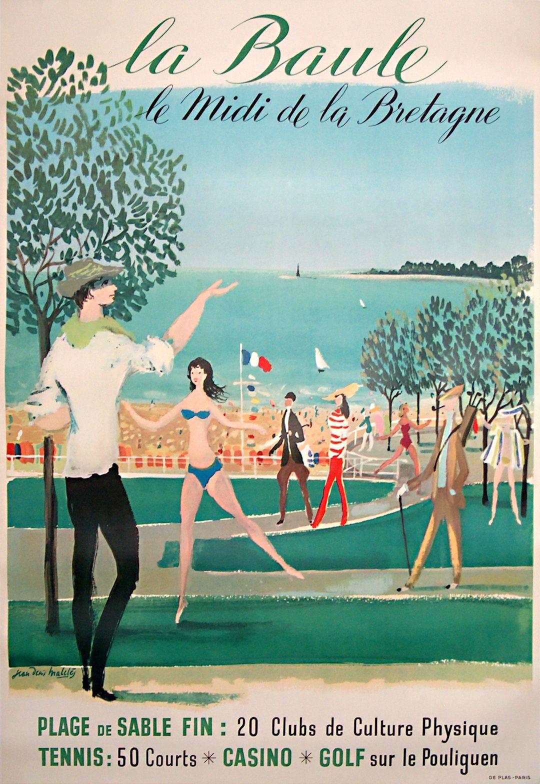 FRANCE La Baule la_baule_golf_poster.jpg (1080×1568) (avec images) | Affiche de voyage, Voyage ...