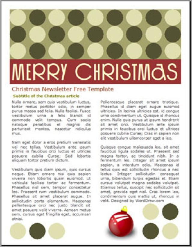 Create a Christmas Newsletter With These Free Easy to Use - free christmas templates for word