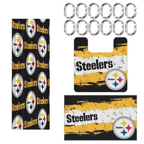 NFL Pittsburgh Steelers Shower Curtain Bath Set