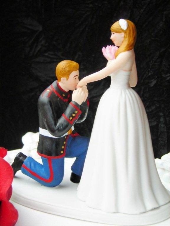 Marine Corps Military Usmc Prince Wedding Cake Topper Kneel 125 00 Via Etsy