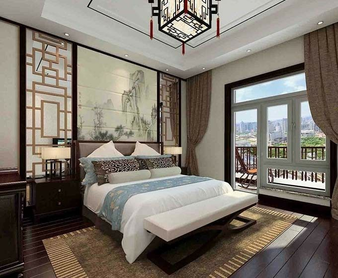 Asian Style Bedrooms Bedroom Home Decor Modern Chinese Interior