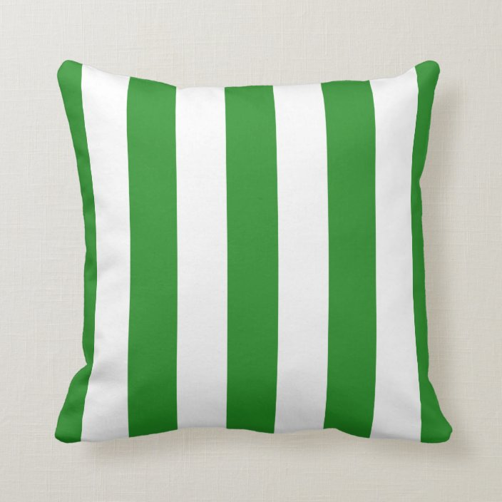 Forest Green And White Awning Stripes Throw Pillow Zazzle Com Sponsored In 2020 Throw Pillows Patterned Throw Pillows Stripes Pattern