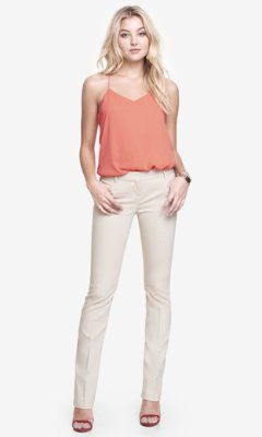 b6a1a5c6b837 Love this color and cut ULTIMATE DOUBLE WEAVE BARELY BOOT COLUMNIST PANT  from EXPRESS http