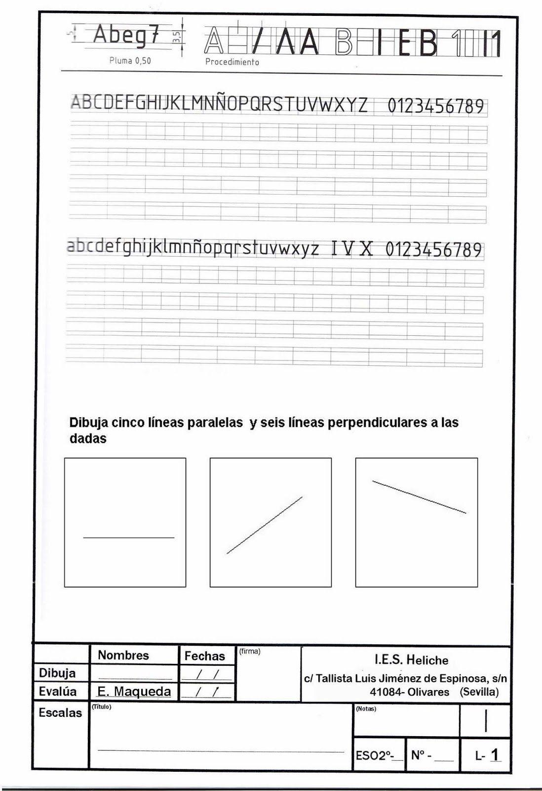 Lamina Paralelas Y Perpendiculares 1º Eso Paralelas Y Perpendiculares Dibujo Tecnico Ejercicios Laminas