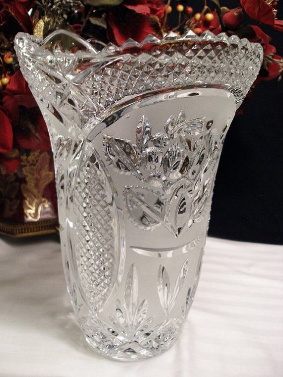 Brand Polonia Flower Vase 24 Led Crystal Made In Poland