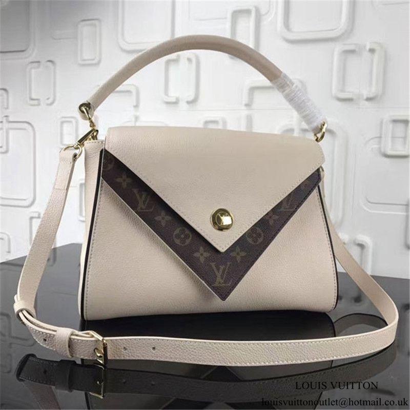 3446506972 Louis Vuitton M54438 Double V Tote Bag Soft Calf Leather | Louis ...