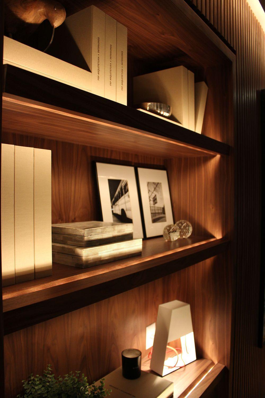 Bookshelf Design Bookcase Led Strip Light Floating Shelf Shelving Furniture Bookcase Bookshelf Design Float In 2020 Bookshelf Lighting Bookshelf Design House Design