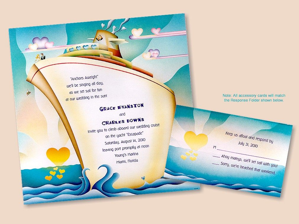Yacht wedding invitations to shine your big day – Yacht Party Invitations
