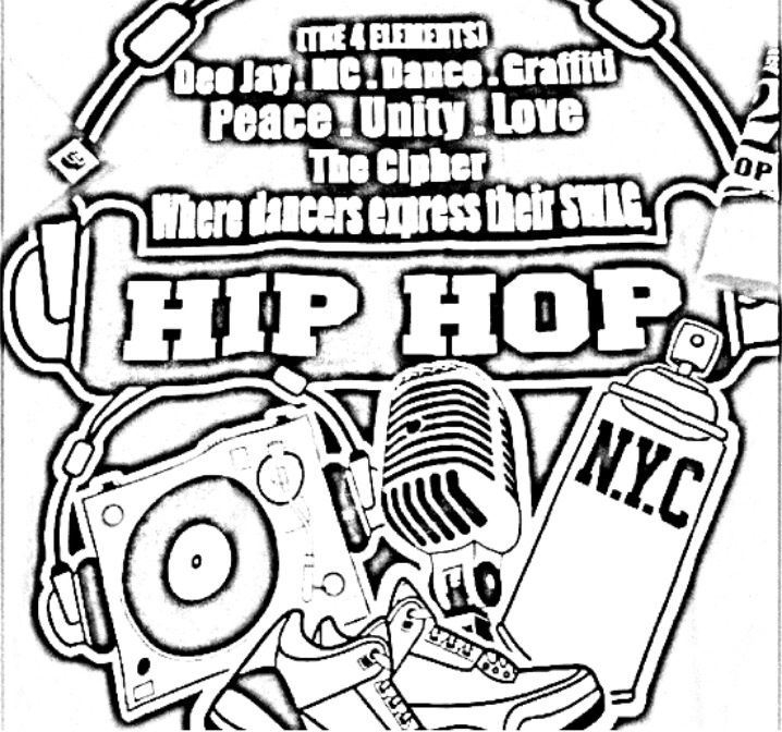 Hip Hop Elements | Hip Hop Coloring Book compiled by Jamee ...