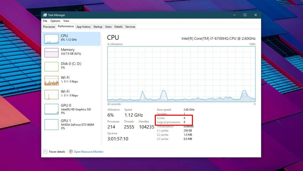 How To Check Cpu Core Count On A Windows 10 Pc Windows 10 Windows Core
